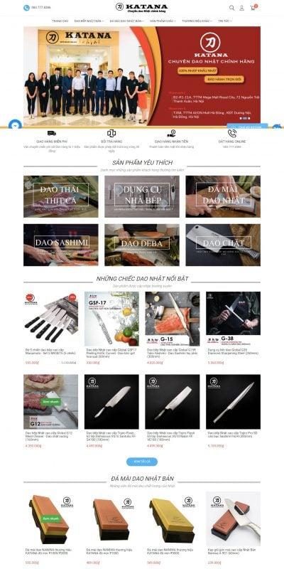 Mẫu thiết kế website bán hàng Mua dao Nhật cao cấp tại Việt Nam – Dao Nhật KATANA – daonhatkatana.com