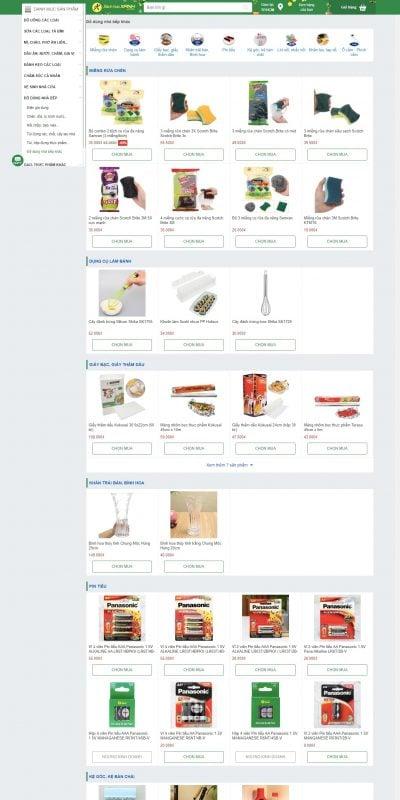 Mẫu thiết kế website bán hàng Mua đồ dùng nhà bếp khác online giá tốt tại Bachhoaxanh.com_ – www.bachhoaxanh.com