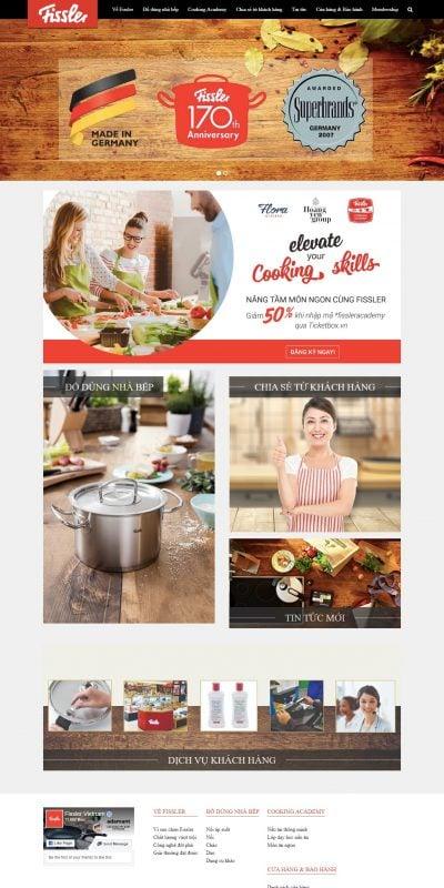 Mẫu thiết kế website bán hàng Dụng cụ nhà bếp Fissler – Phân phối chính thức, độc quyền tại Việt N_ – www.fissler.com.vn