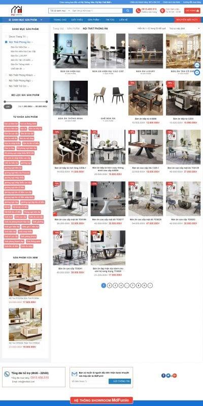 Mẫu thiết kế website bán hàng Nội Thất Phòng Ăn Archives – MDfuni® – Nội thất nhập khẩu MDfuni_ – www.mdfuni.com
