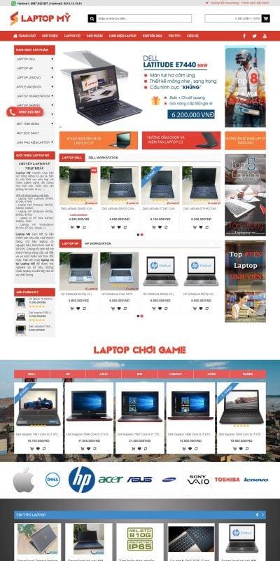 Mẫu thiết kế website bán hàng Laptop Mỹ địa chỉ bán laptop cũ nhập khẩu Mỹ uy tín tại Hà Nội._ – laptopmy.vn