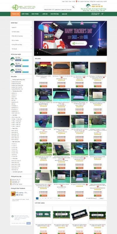 Mẫu thiết kế website bán hàng HD Laptop, laptop cảm ứng, game, đồ họa, văn phòng, giải trí, laptop_ – laptopcuhanoi.com.vn