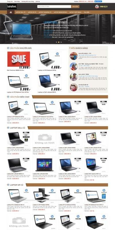 Mẫu thiết kế website bán hàng  Laptop cũ, nơi bán Laptop cũ uy tín, giá rẻ nhất ở hà nội_ – laptophanoi.com.vn