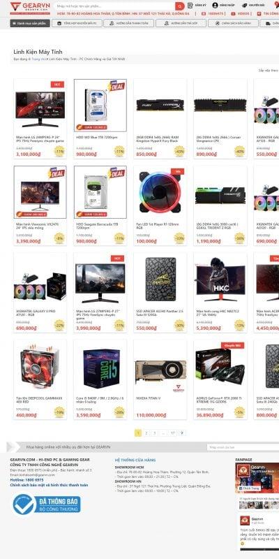 Mẫu thiết kế website bán hàng Linh Kiện Máy Tính – PC Chính Hãng và Giá Tốt Nhất – GEARVN.COM – PC_ – gearvn.com
