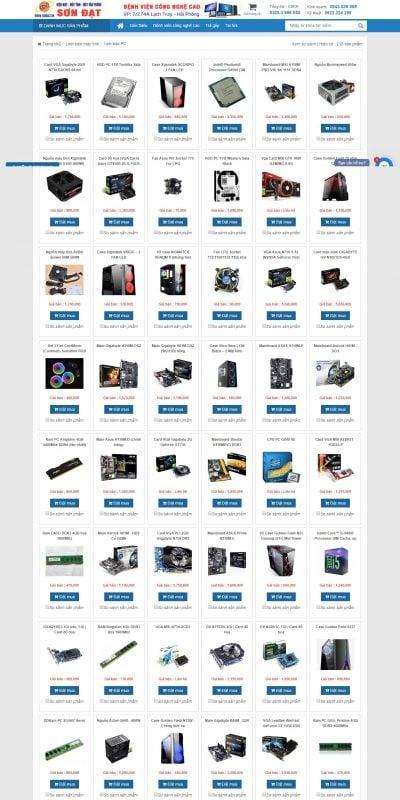 Mẫu thiết kế website bán hàng Linh kiện máy tính để bàn, Ram, Ổ cứng, Card màn hình, chính hãng_ – sondat.vn
