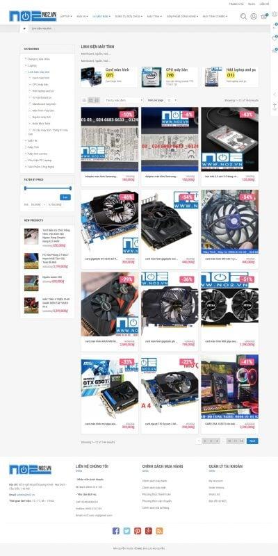 Mẫu thiết kế website bán hàng Linh kiện máy tính Archives – SỬA CHỮA PHÂN PHỐI LINH KIỆN LAPTOP, M_ – no2.vn