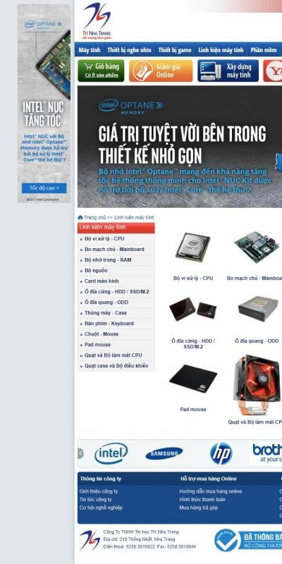 Mẫu thiết kế website bán hàng Link kiện máy tính – thnhatrang.vn