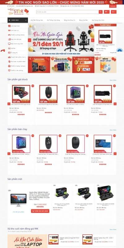 Mẫu thiết kế website bán hàng Mua linh kiện máy tính, thiết bị công nghệ đến ngay Tin Học Ngôi Sao_ – tinhocngoisao.com