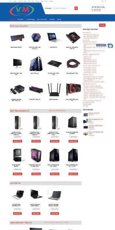 Mẫu thiết kế website bán hàng Mua Bán Máy Tính Cũ-Linh Kiện Máy Tính Cũ Chất Lượng Giá Rẻ Tại HN_ – vietminh.vn