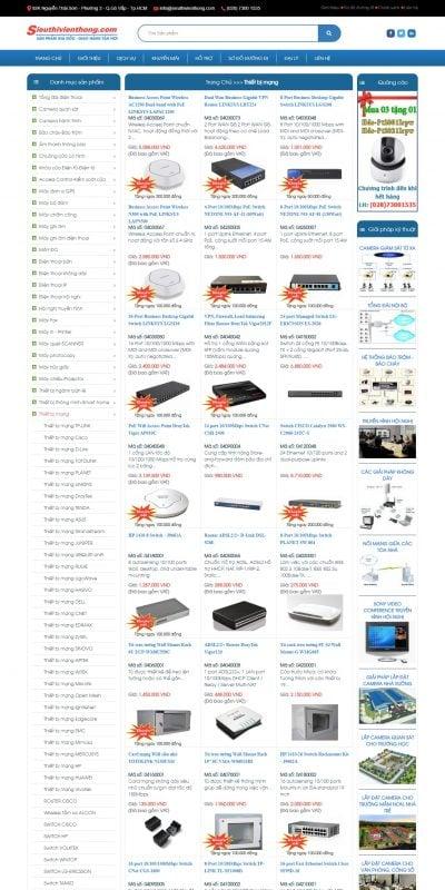 Mẫu thiết kế website bán hàng Thiết bị mạng – SIEU THI VIEN THONG – www.sieuthivienthong.com
