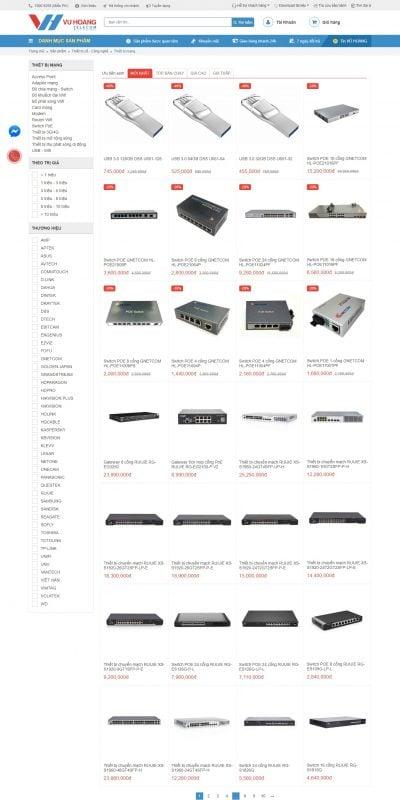 Mẫu thiết kế website bán hàng Mua Bán Thiết Bị Mạng Chất Lượng Cao, Giá Tốt – Vuhoangtelecom.vn_ – vuhoangtelecom.vn