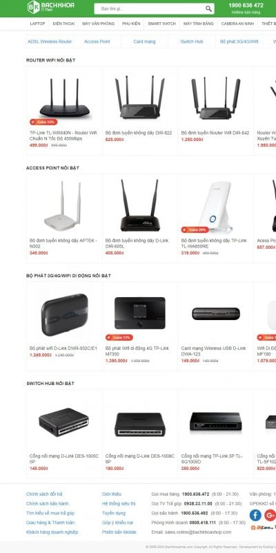 Mẫu thiết kế website bán hàng Thiết bị mạng giá rẻ, chất lượng chính hãng – Bachkhoashop.com_ – www.bachkhoashop.com