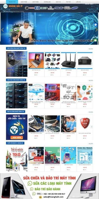Mẫu thiết kế website bán hàng HOÀNG HẢI IT – www.hoanghaiit.com