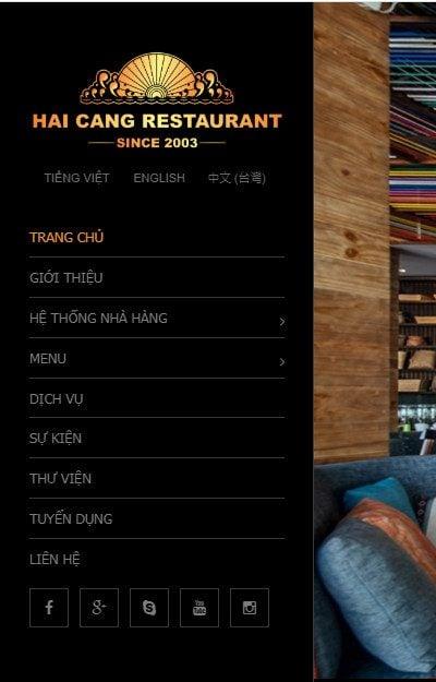 Mẫu thiết kế website tin tức – Nhà hàng Hải Cảng – Tinh hoa giữa lòng Hà Nội-haicang.vn