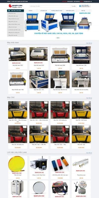 Mẫu thiết kế website bán hàng – babylon.vn-MÁY KHẮC LASER_ KHẮC DẤU, GỖ, MICA, GIẤY, DA, VẢI – BABYLON