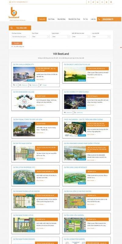 Mẫu thiết kế website tin tức bestland.vn-Home – BestLand