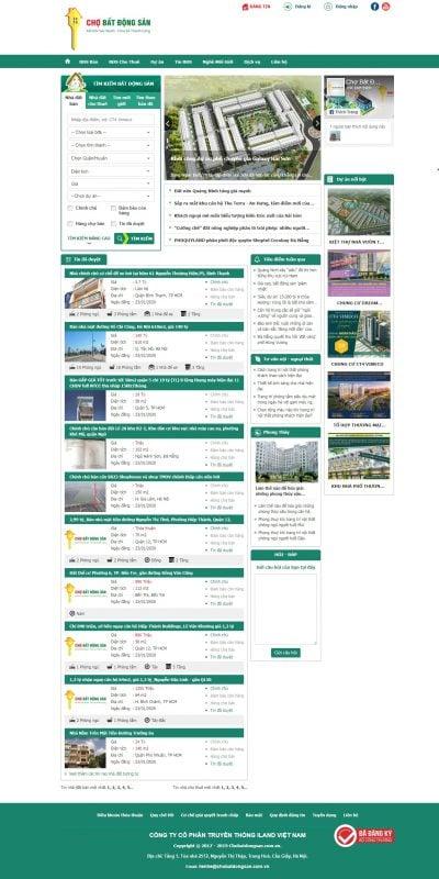 Mẫu thiết kế website tin tức chobatdongsan.com.vn-Nhà đất – Mua bán nhà đất – Cho thuê nhà đất – Thông tin nhà đất