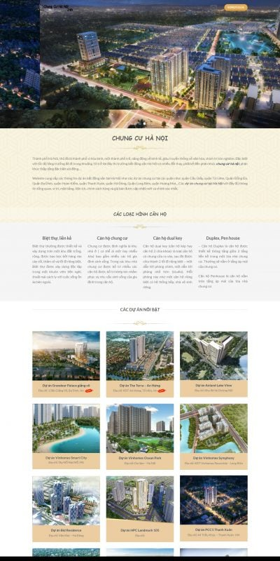 Mẫu thiết kế website tin tức chungcuhn24h.info-Chung cư Hà Nội_ Các dự án chung cư tại Hà Nội Hot nhất