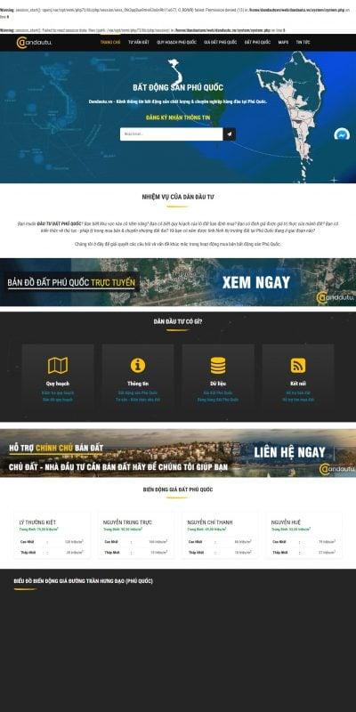 Mẫu thiết kế website tin tức dandautu.vn-Kênh đầu tư Bất Động Sản Phú Quốc 2018-2019