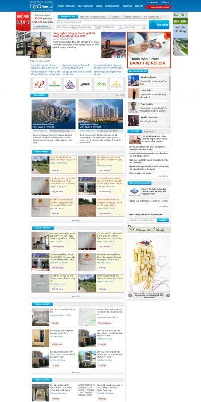 Mẫu thiết kế website tin tức diaoconline.vn-Cổng thông tin và giao dịch nhà đất – DiaOcOnline