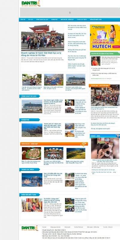 Mẫu thiết kế website tin tức – dulich.dantri.com.vn-Du lịch – Dân trí – Báo Dân trí