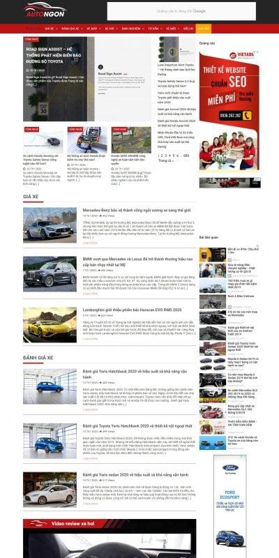 Mẫu thiết kế website bán hàng muasamxe.com-Muasamxe.com trang tin tức đánh giá, rao vặt và dịch vụ xe ô tô