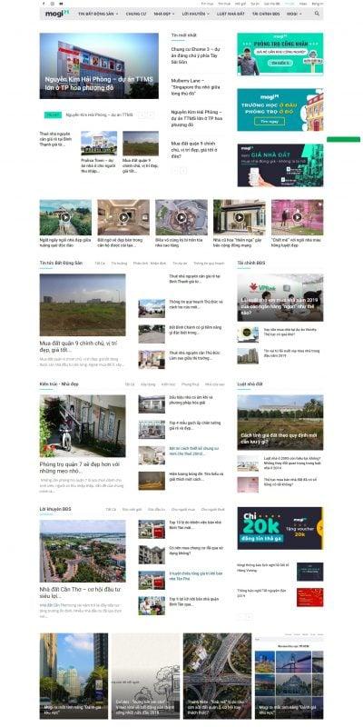 Mẫu thiết kế website tin tức news.mogi.vn-Thông tin thị trường, đầu tư bất động sản, nhà đất Việt Nam – Mogi.vn