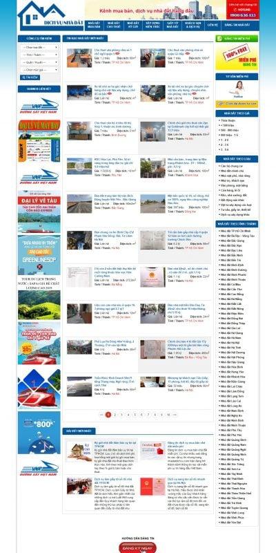 Mẫu thiết kế website tin tức nhadatdichvu.com-Dịch Vụ Mua Bán Nhà Đất