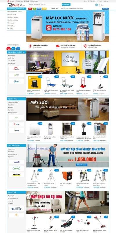 Mẫu thiết kế website bán hàng – panamart.vn-Máy văn phòng, thiết bị gia dụng, máy công nghiệp-