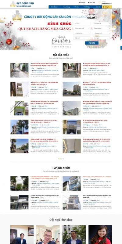 Mẫu thiết kế website tin tức saigonkingland.com.vn-Sài Gòn King Land – Môi giới và thẩm định bất động sản