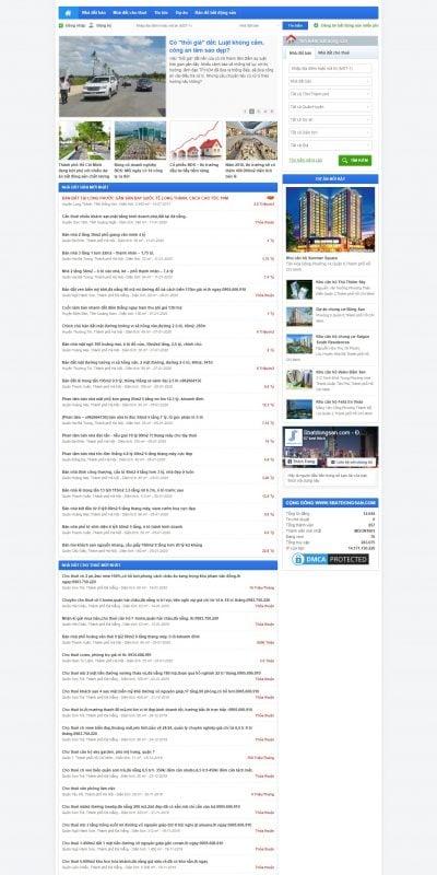 Mẫu thiết kế website tin tức sbatdongsan.com-Website đăng tin bất động sản miễn phí