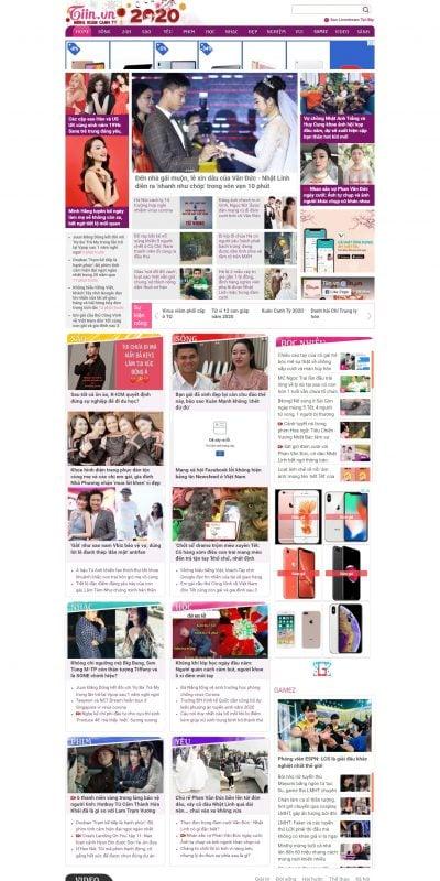 Mẫu thiết kế website tin tức – tiin.vn – Trang tin tức tổng hợp giới trẻ – Tiin.vn