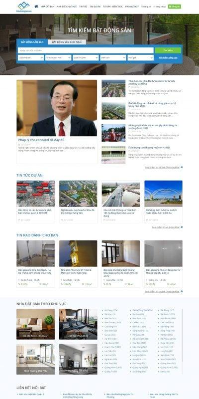 Mẫu thiết kế website tin tức tinbatdongsan.com – Bất động sản – Mua bán nhà đất – Cho thuê nhà đất