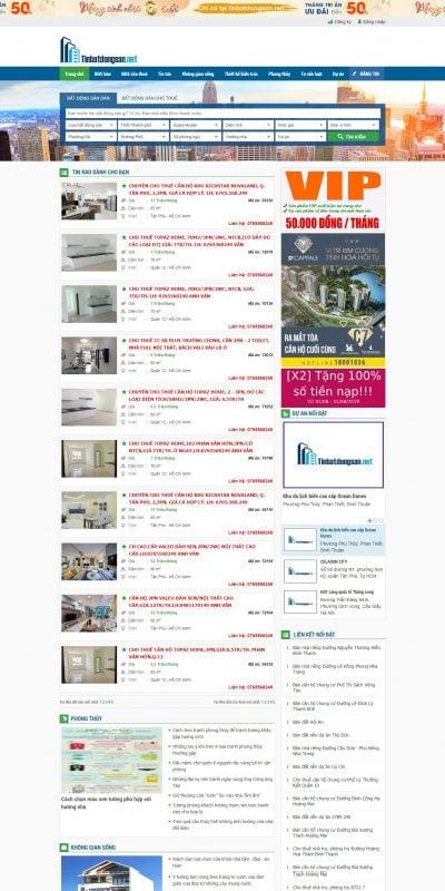 Mẫu thiết kế website tin tức tinbatdongsan.net-Nhà đất, mua bán nhà đất, cho thuê nhà đất, căn hộ, bất động sản