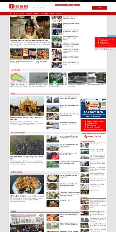 Mẫu thiết kế website tin tức – tintucnamdinh.vn-Tin Tức Nam Định 24h Mới Nhất – Tin nóng về Nam Định