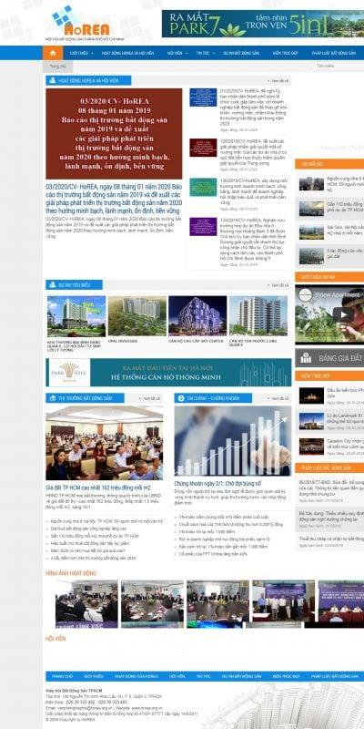 Mẫu thiết kế website tin tức www.horea.org.vn-Trang chủ – HIỆP HỘI BẤT ĐỘNG SẢN TPHCM – HOREA