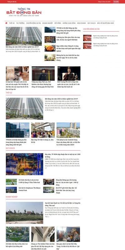 Mẫu thiết kế website tin tức www.thongtinbatdongsan24h.com-Thông tin Bất Động Sản 24H – Kênh tin tức Bất động sản Việt Nam