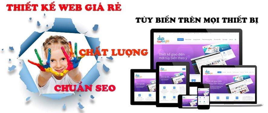 Thiết kế web giá rẻ tại Thành Phố Hồ Chí Minh chuyên nghiệp uy tín