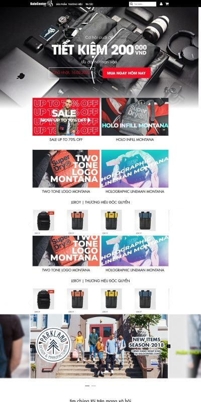 Mẫu thiết kế website bán hàng balocenter.com-BaloCenter.com – Shop balo ĐẸP XUẤT SẮC tại Việt Nam