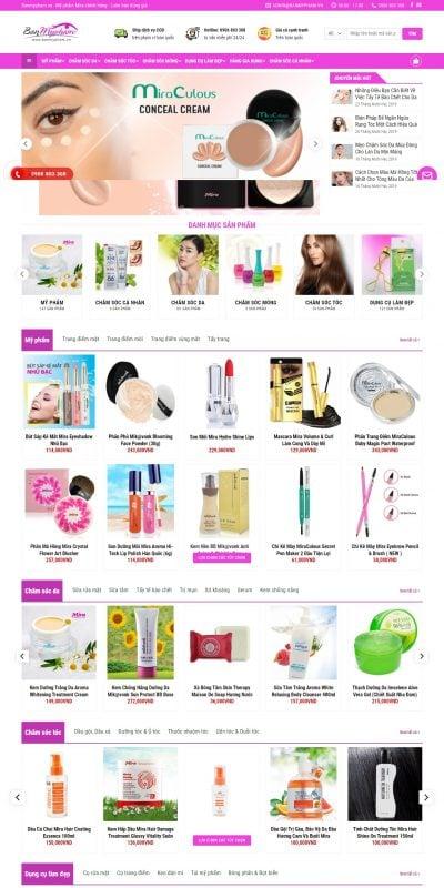 Mẫu thiết kế website bán hàng banmypham.vn-BanMyPham.VN – Mỹ Phẩm Mira Chính Hãng – Luôn Bán Đúng Giá