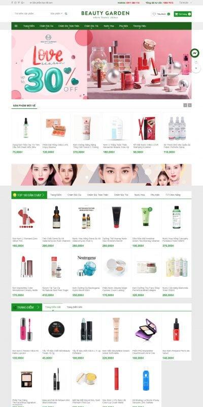 Mẫu thiết kế website bán hàng beautygarden.vn-Beautygarden – Mỹ phẩm chính hãng giá tốt nhất tại Việt Nam