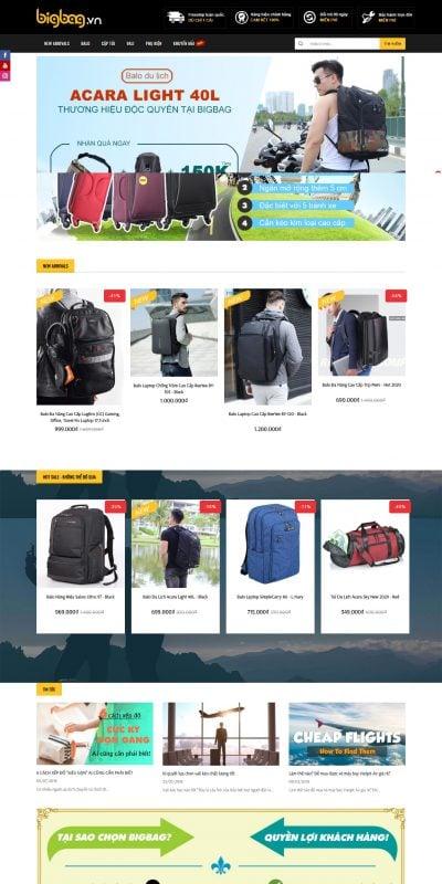 Mẫu thiết kế website bán hàng bigbag.vn-BIGBAG – SHOP BIGBAG.VN – THẾ GIỚI BA LÔ + CẶP TÚI + BALO