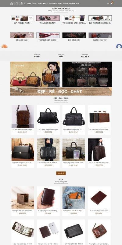 Mẫu thiết kế website bán hàng captuida.vn-Cặp Túi Da Shop – Chuyên đồ da nam giá rẻ nhất HN HCM