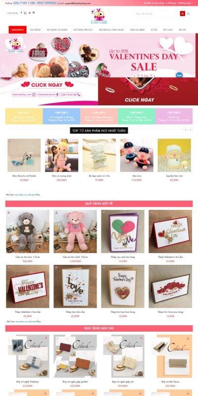 Mẫu thiết kế website bán hàng chipchipshop.com-Cửa hàng quà tặng lưu niệm cho người bạn yêu thương – Chipchipshop – Chip Ch_