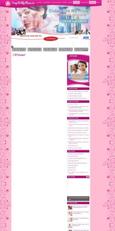 Mẫu thiết kế website bán hàng congbomypham.vn-Công Bố Mỹ Phẩm – Quảng Cáo Mỹ Phẩm – Sử Dụng Mỹ Phẩm – Tin Mỹ Phẩm