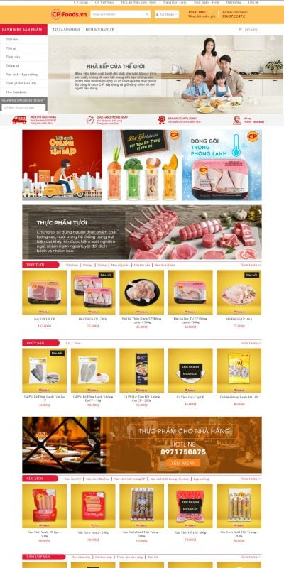 Mẫu thiết kế website bán hàng cpfoods.vn-CPFoods.vn – Thực phẩm sạch – 3F – Thực phẩm sạch 3F