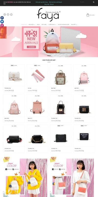 Mẫu thiết kế website bán hàng faya.vn-Faya – FAYA