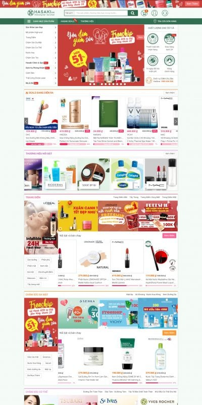 Mẫu thiết kế website bán hàng hasaki.vn-Hasaki.vn – Mỹ Phẩm – Mẹ & Bé – Clinic & Spa