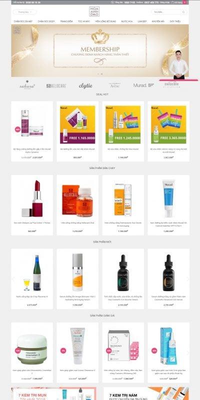 Mẫu thiết kế website bán hàng hoaanhdao.vn-Mỹ phẩm Hoa Anh Đào- Nhà phân phối mỹ phẩm cao cấp chính hãng