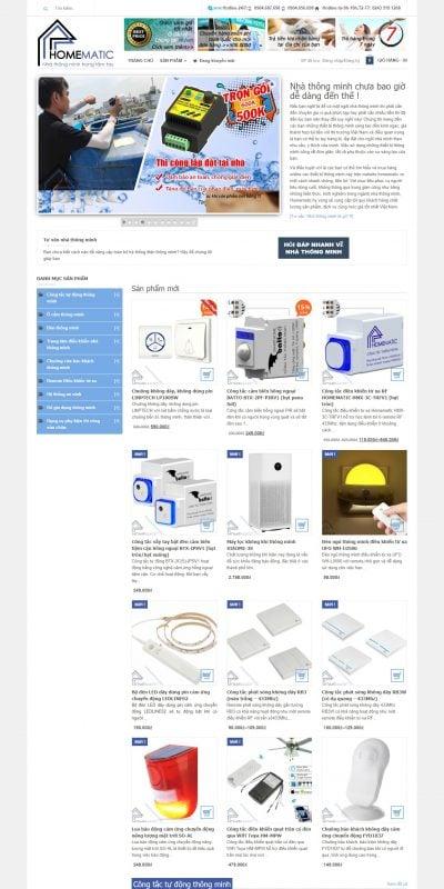Mẫu thiết kế website bán hàng homematic.vn-Thiết bị điện thông minh Smarthome Homematic